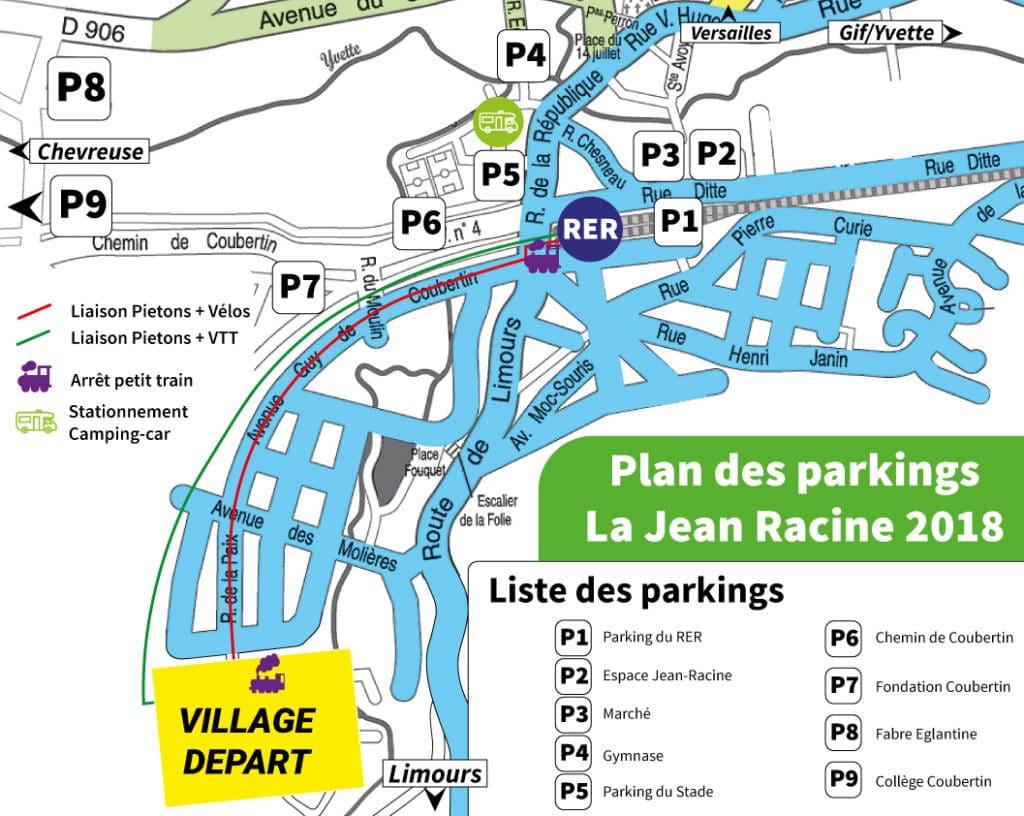 Plan des parkings 2018 pour venir
