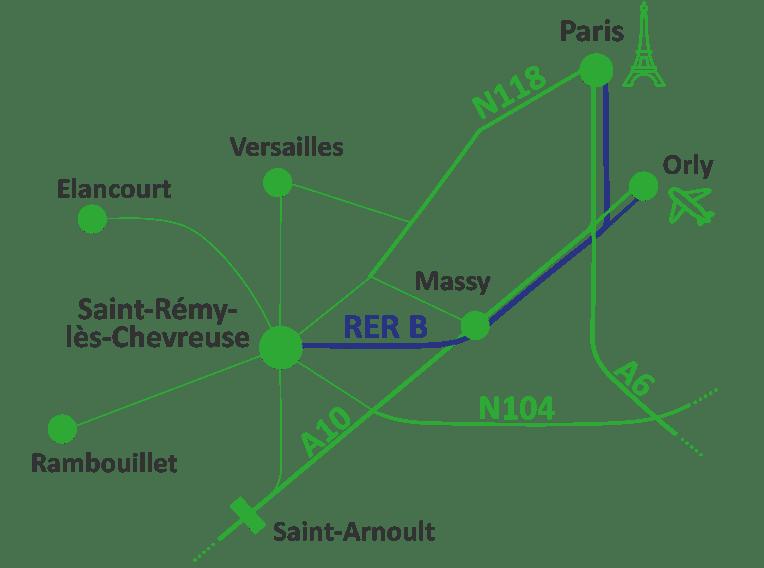 Plan d'accès pour venir à St Rémy
